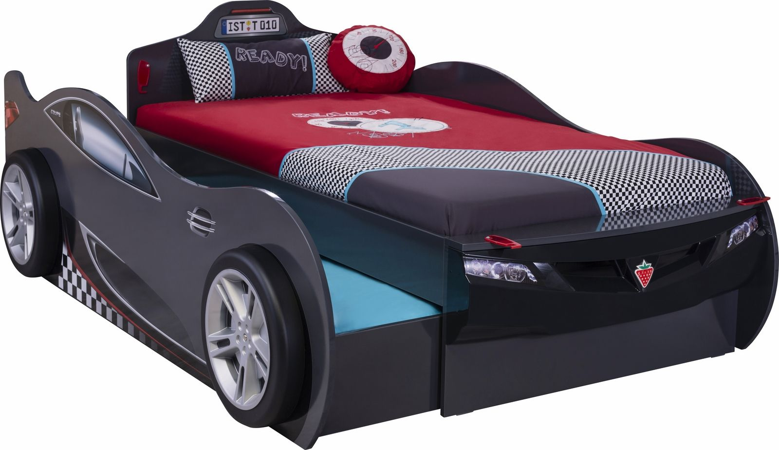 Autobett Racer double, schwarz | im möbel-spot kids Shop ...