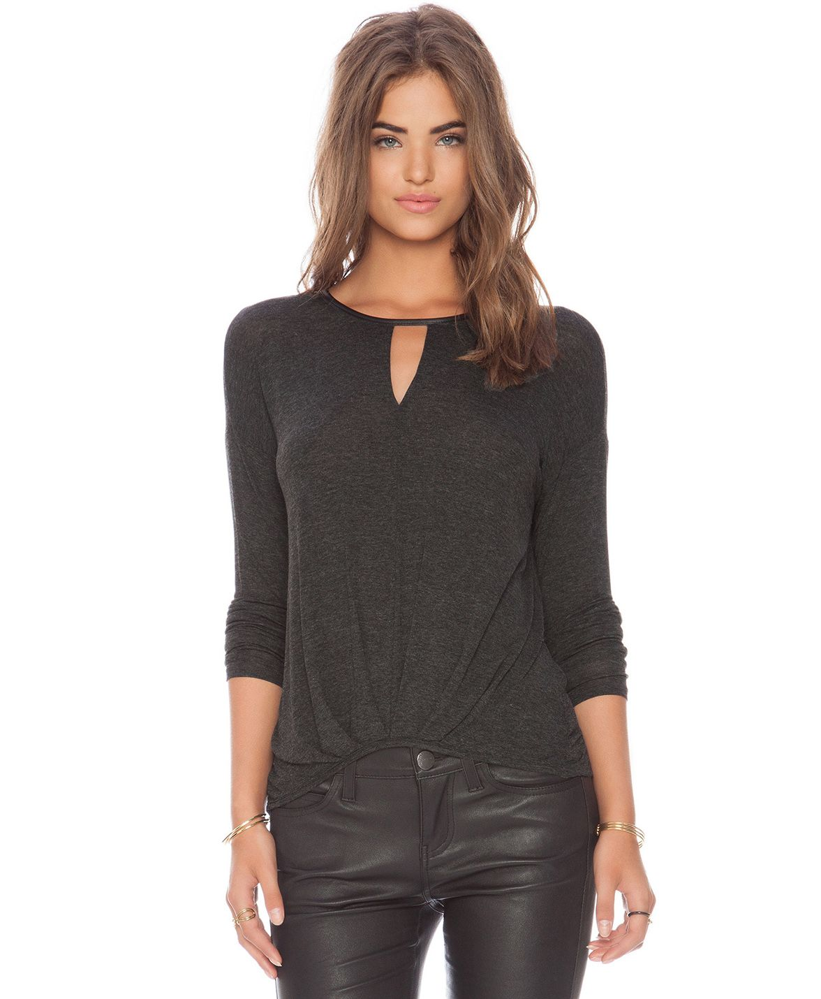Sale grey long sleeve casual tshirt shop the sale at sheinside