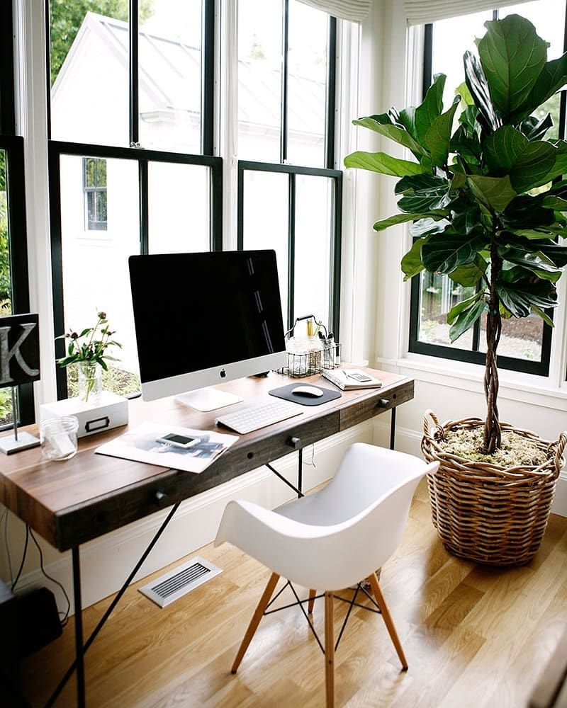 A charming window desk with a view Great workspace inspiration ...