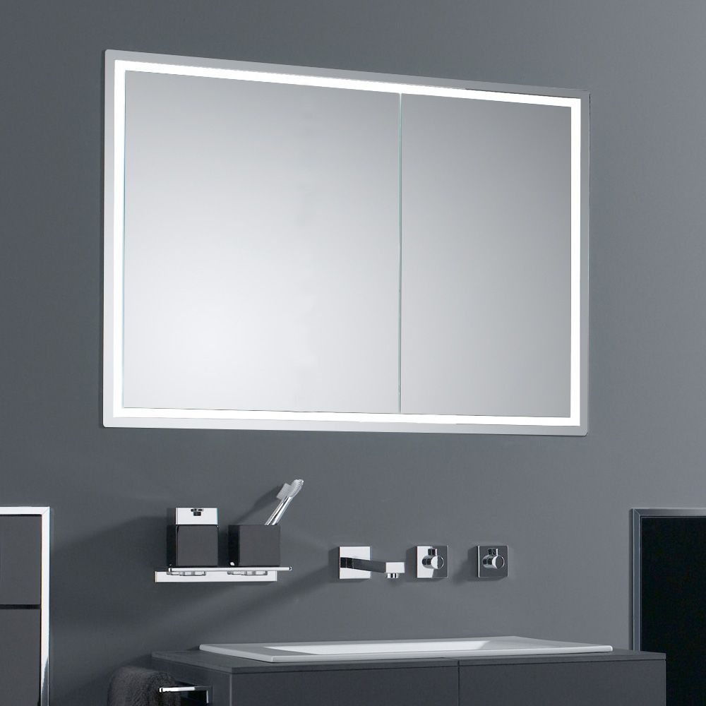 Emco Prestige Unterputz Lichtspiegelschrank Breite Tur Links 989706051 Badezimmer Unterputz Spiegelschrank Badezimmer Schrank