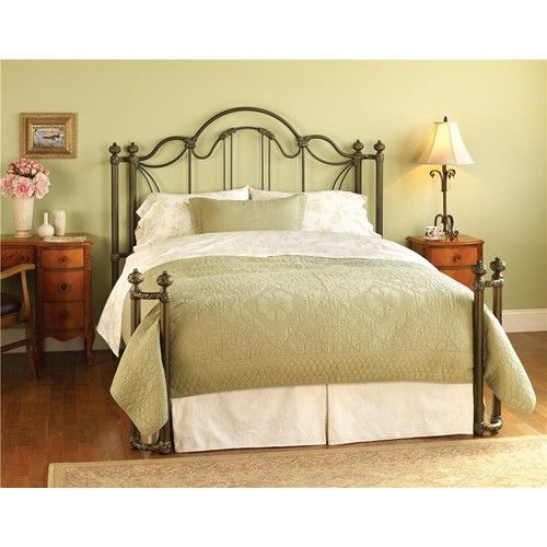 Iron Beds King Marlow Headboard and Open Footboard Bed with Return