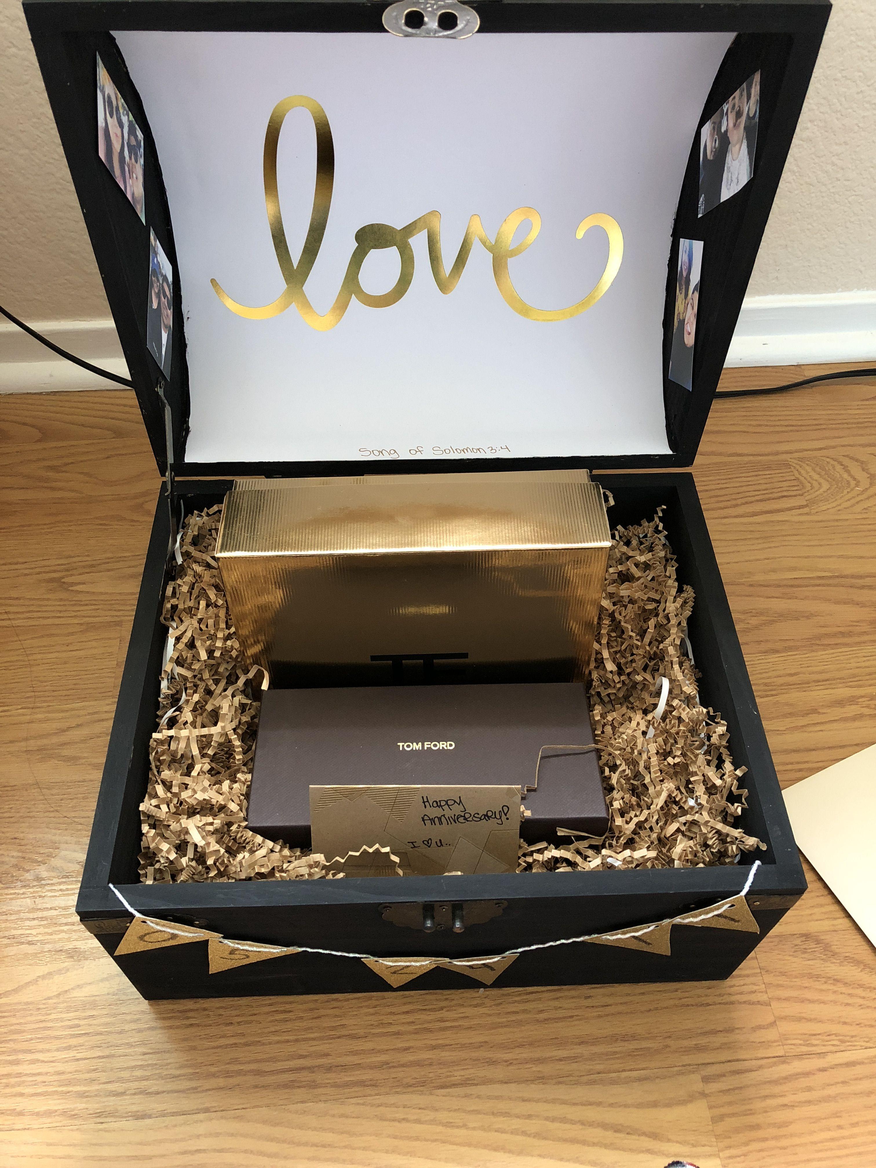Diy anniversary idea treasure box black anniversary date