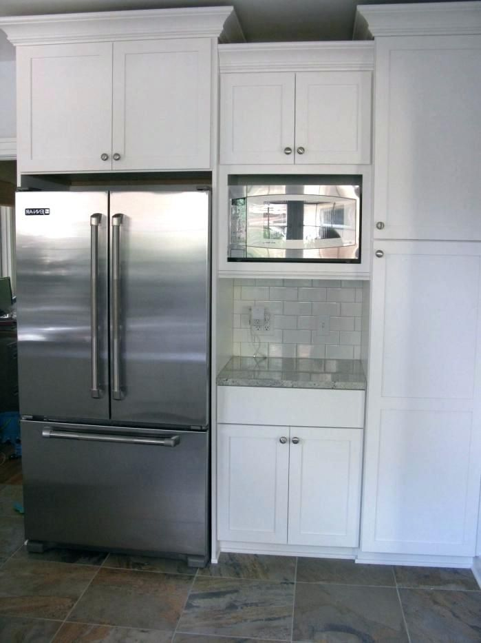 ikea built in microwave cabinet kitchen