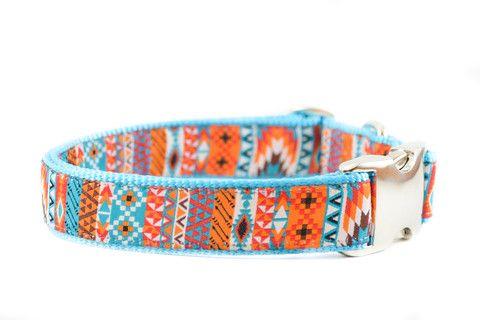 Tribal Mix Aqua Dog Collar