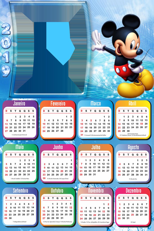 Calendario 2019 Disney Para Imprimir.Calendario 2019 Do Mickey Imagem Legal Kalendar