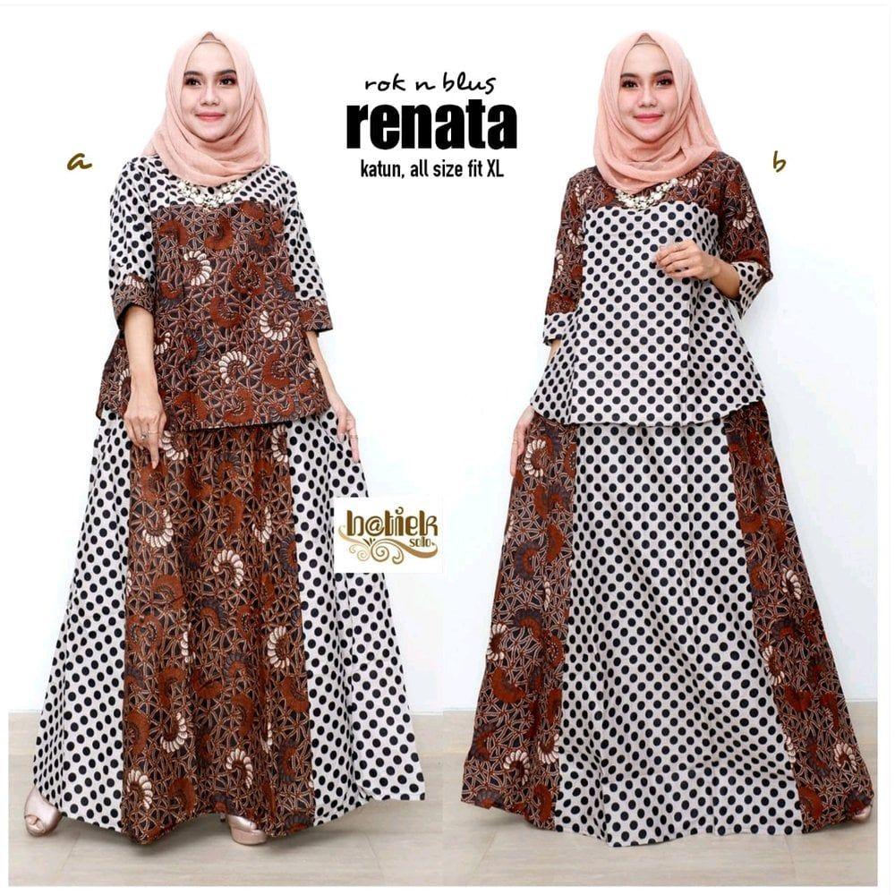Model Gamis Batik Jumbo Solo di 12  Model pakaian, Gaun lengan