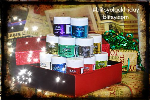 We're giving these Stickles away on Twitter! Retweet and follow @BlitsyCrafts on Twitter for your chance to win! #blitsyblackfriday #sneakpeek #giveaway #blackfriday