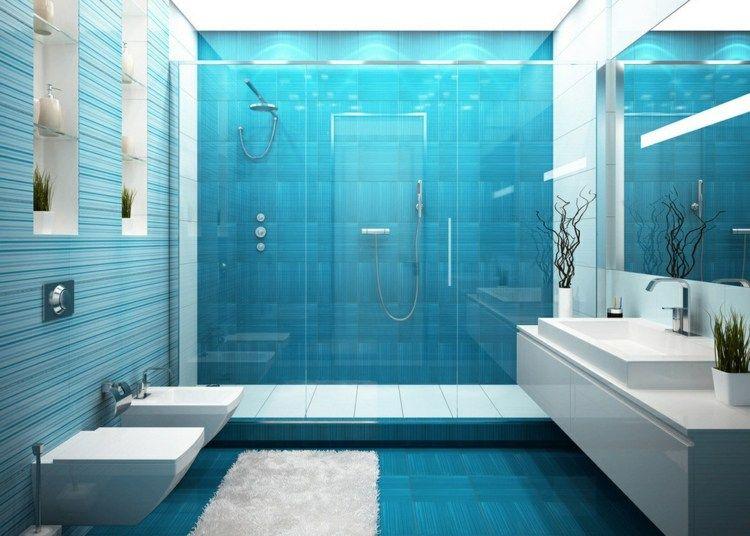 Carrelage Salle De Bain Bleu Idees Desobeissant A La Banalite Salle De Bain Bleu Carrelage Salle De Bain Bain Bleu
