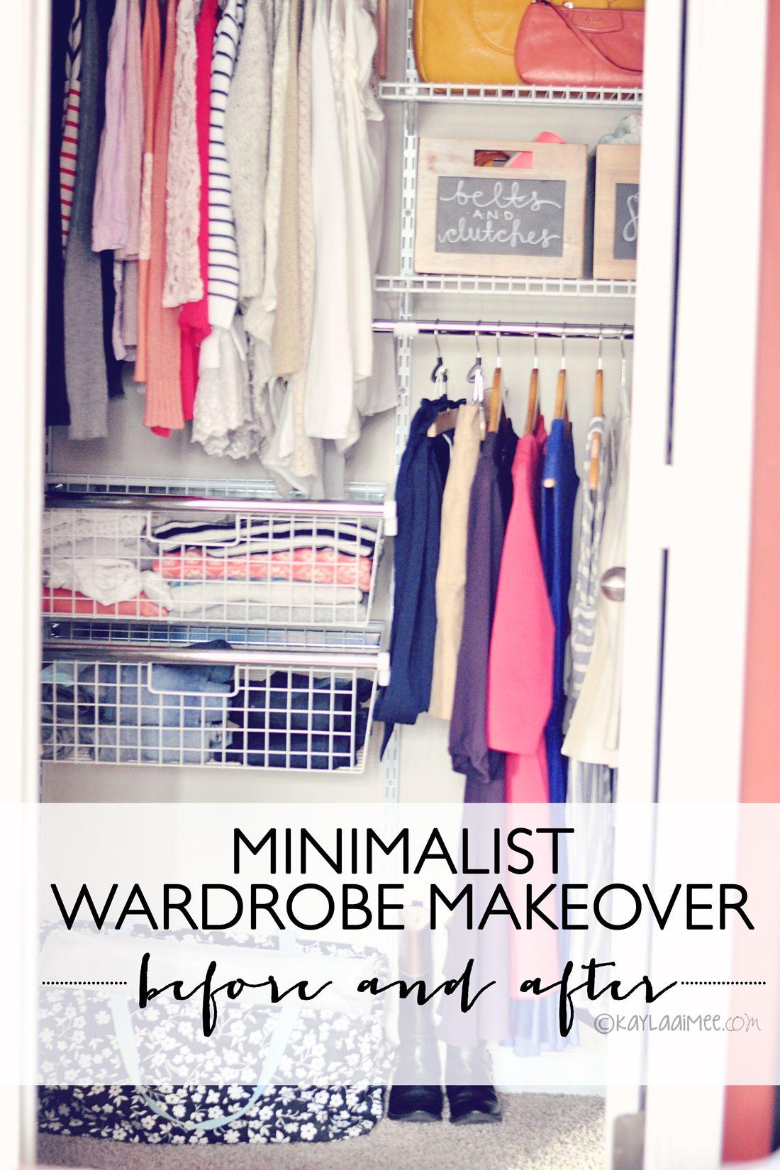 Minimalist Wardrobe Makeover Closet Before After My Blog Posts