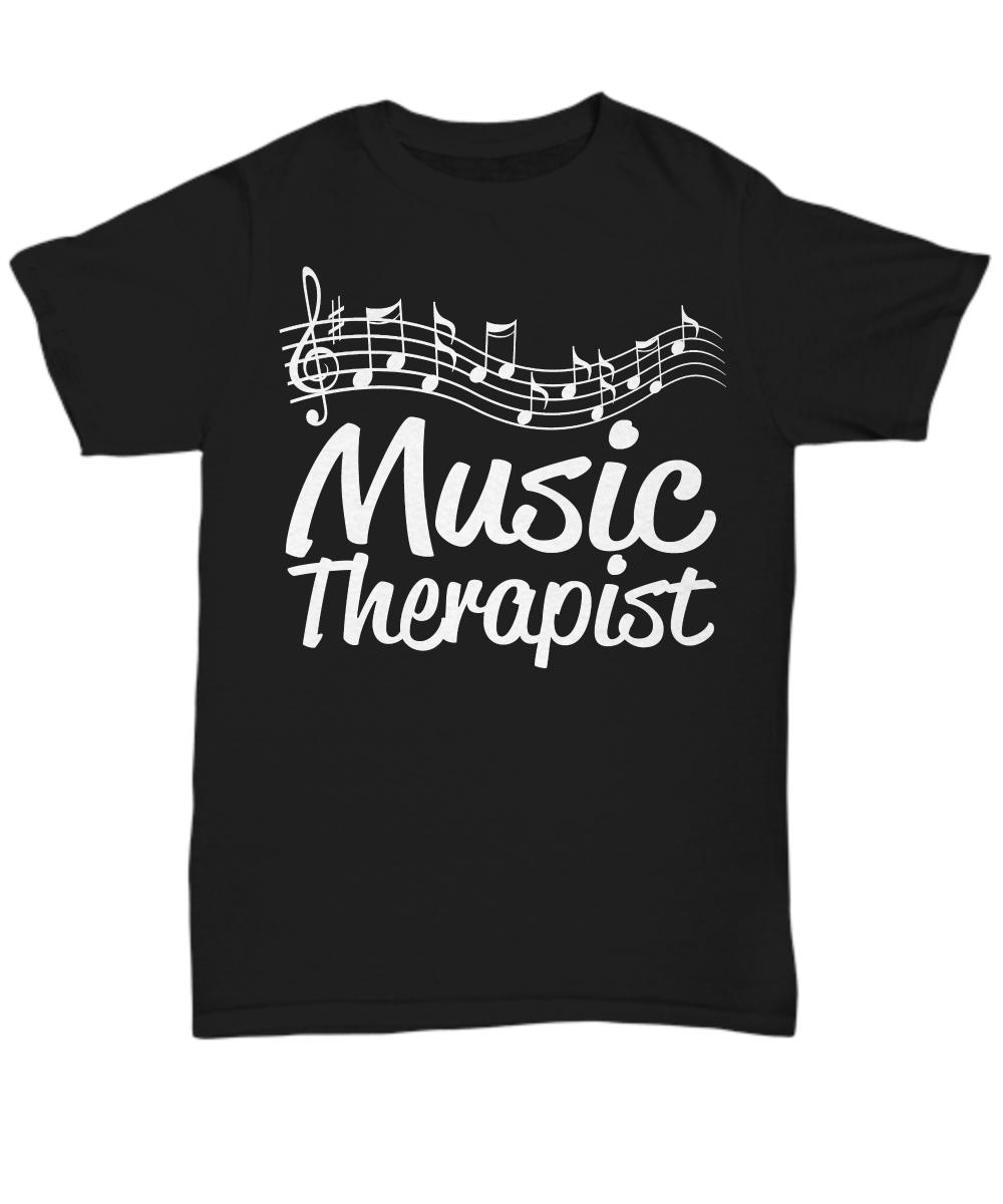 Women and Men Tee Shirt T-Shirt Hoodie Sweatshirt Music Therapist - Women's Tee / Black / xlg