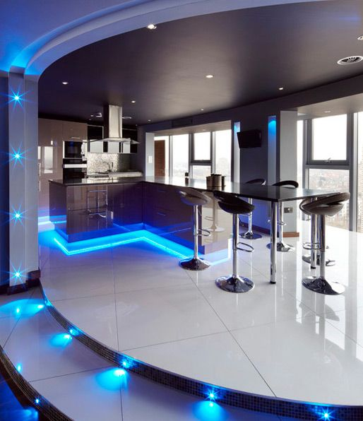 Using LED Lighting In Interior Home Designs Bar