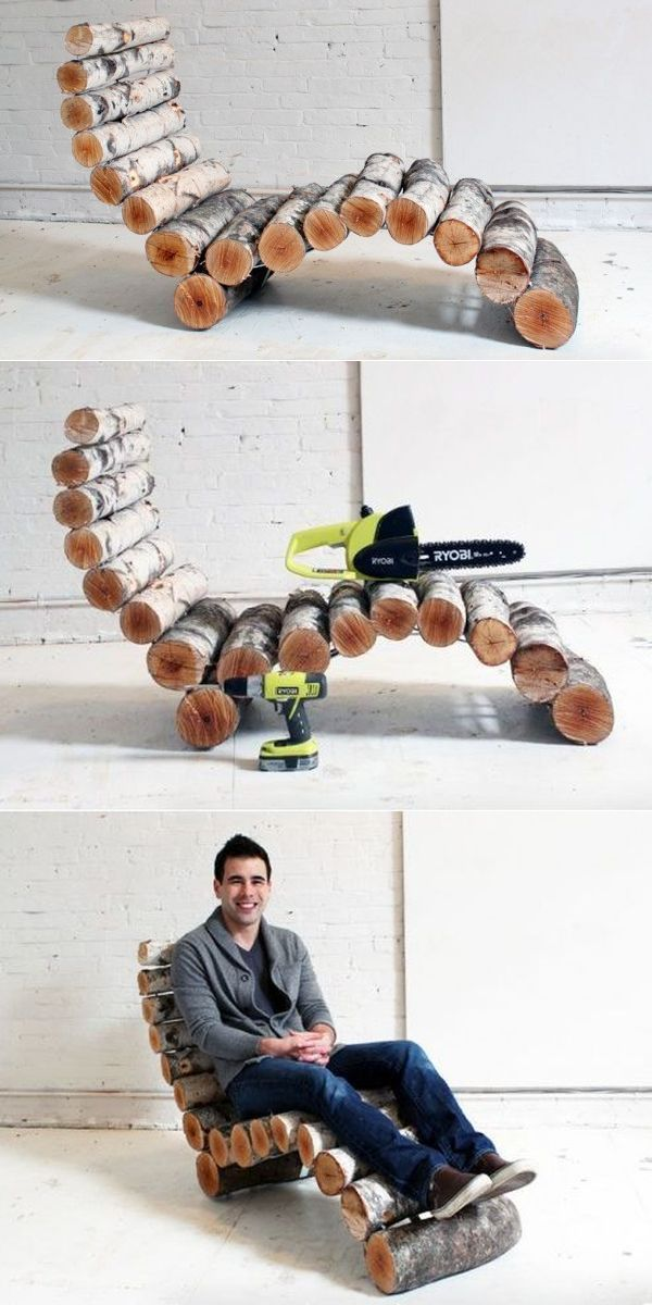 Photo of This DIY Wood Log Lounger Looks Uncomfortable