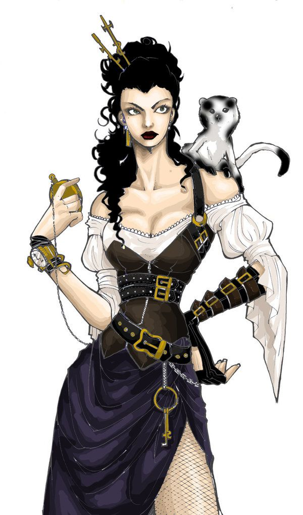 Hmmm I see a concept for a steampunk pirate costume for ...