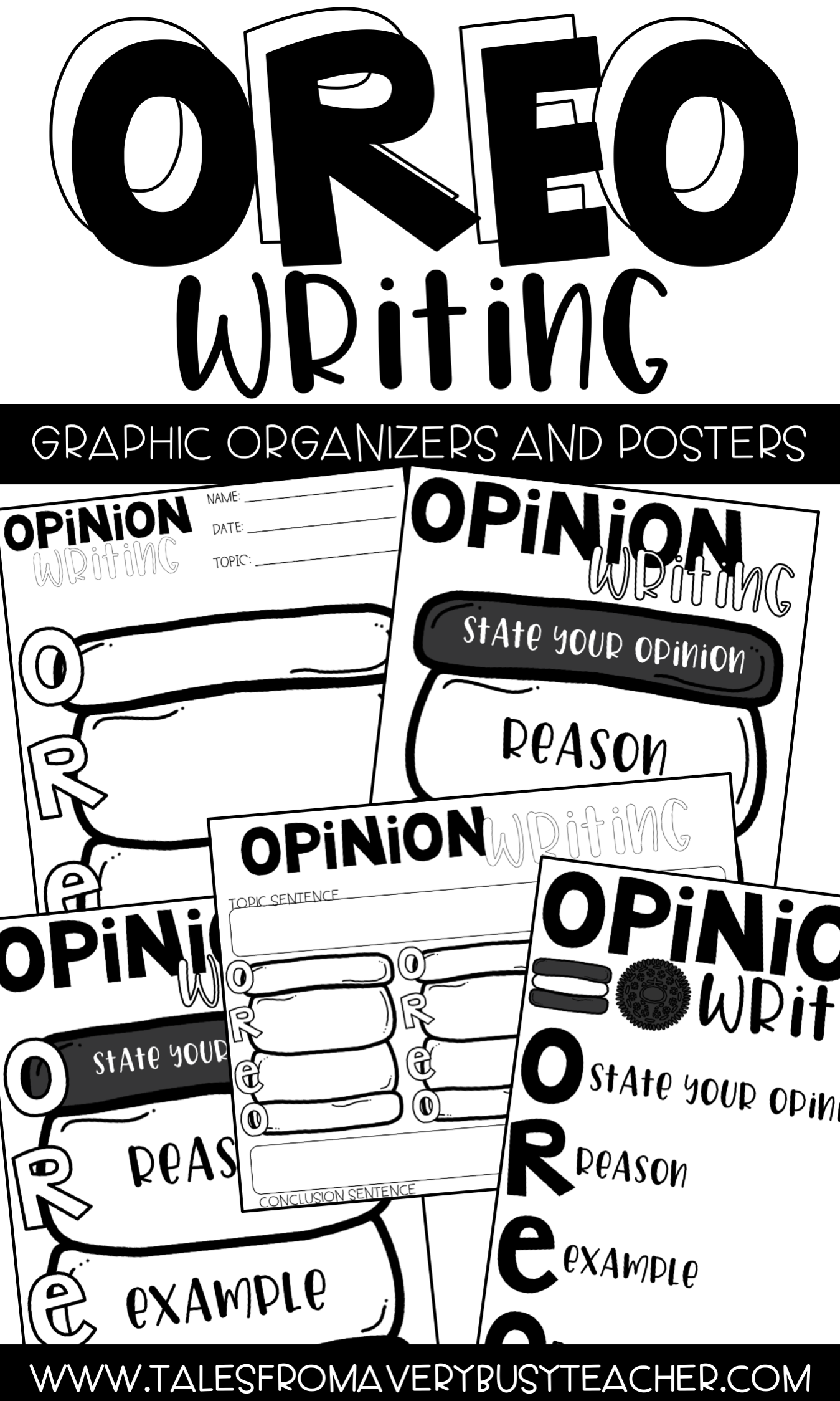 Opinion Writing Posters And Graphic Organizer Oreo
