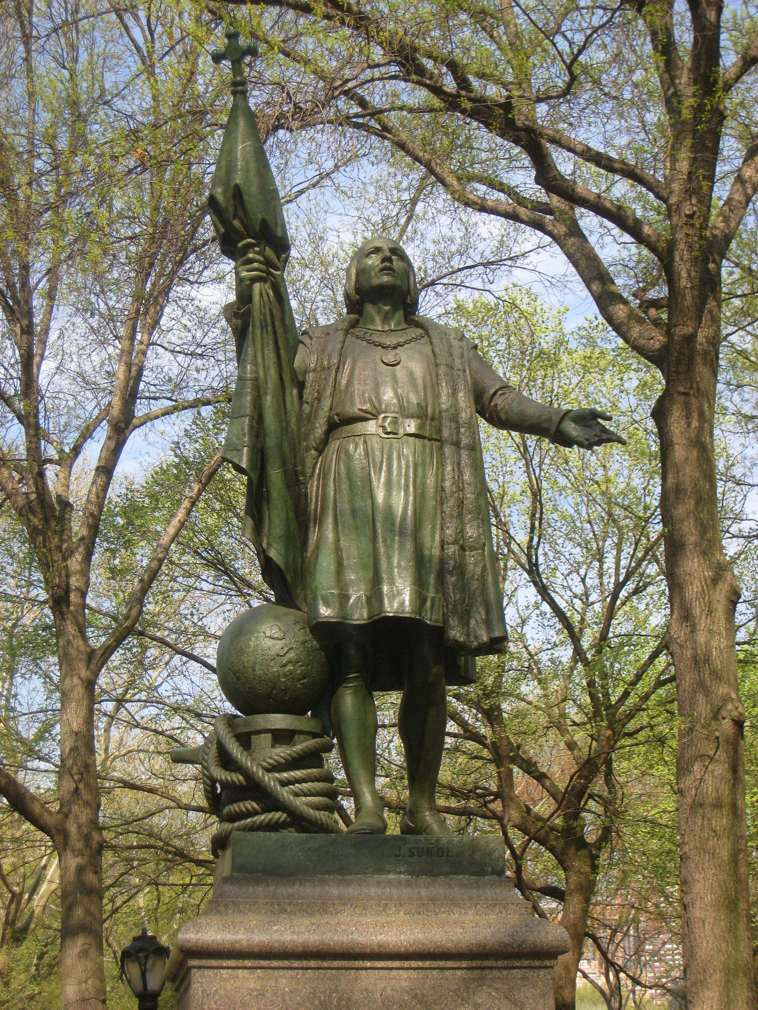 Columbus Monument In New York