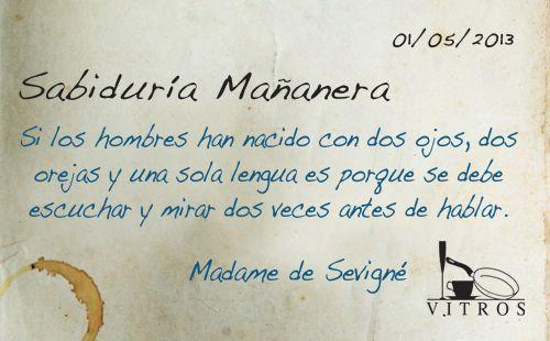 Sabiduría Mañanera con Vitros. Felíz miercóles! :)