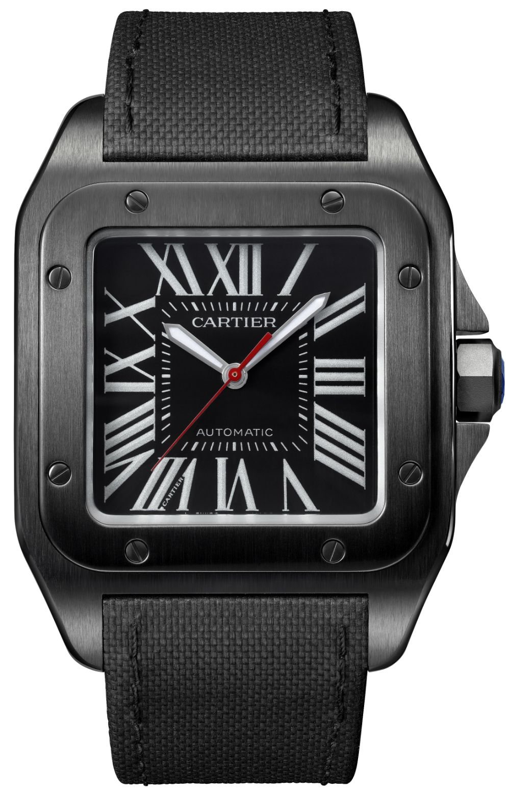 Cartier Santos 100 Carbon Ballon Bleu De Cartier Carbon Watches Ablogtowatch Cartier Santos Cartier Santos 100 Watches For Men