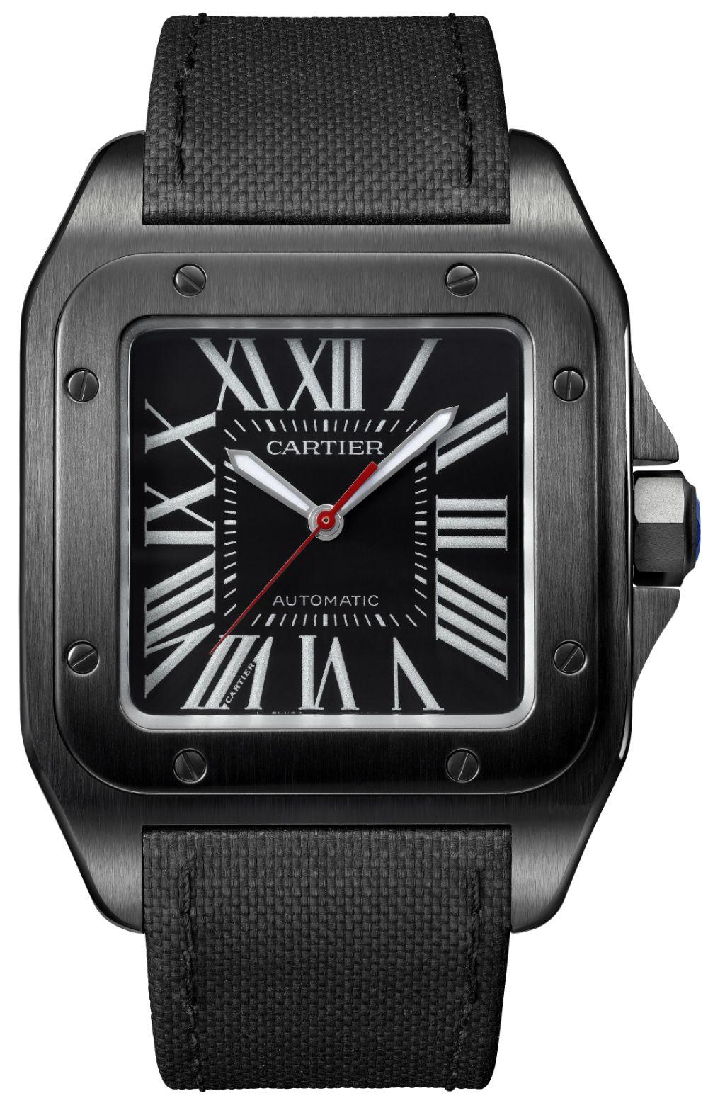 84d1b42f143 Cartier Santos 100 Carbon   Ballon Bleu De Cartier Carbon Watches Watch  Releases