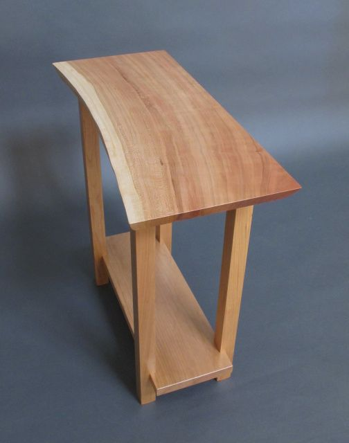 Exceptional Live Edge Cherry Side Table: For Entryway Table, Small Side Table, Solid  Wood