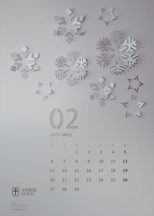 """Cut Out"" Wall Calendar by TOFU STUDIO , via Behance"