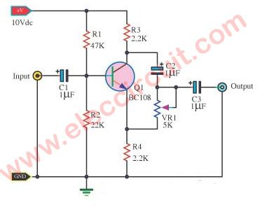 Single transistor phase shifter | Pinterest | Simple electronic ...