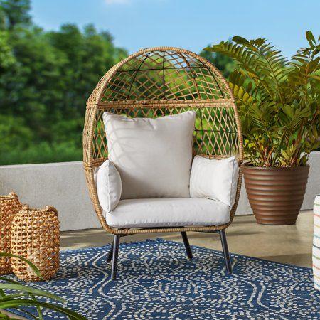 Better Homes Gardens Ventura Stationary Outdoor Kid S Egg Chair Walmart Com Outdoor Furniture Collections Egg Chair Outdoor Kids