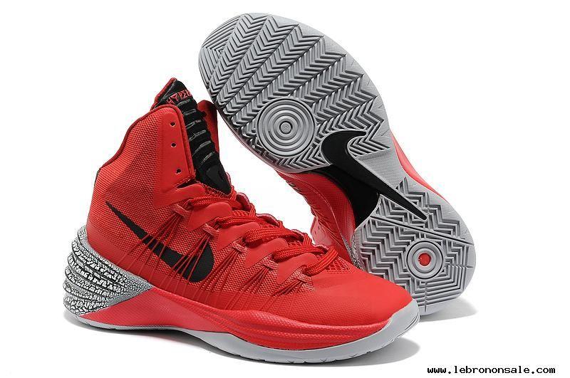 0ea7685bb379 Nike Hyperdunk 2013 XDR Basketball University Red Black-Wolf Grey For Sale