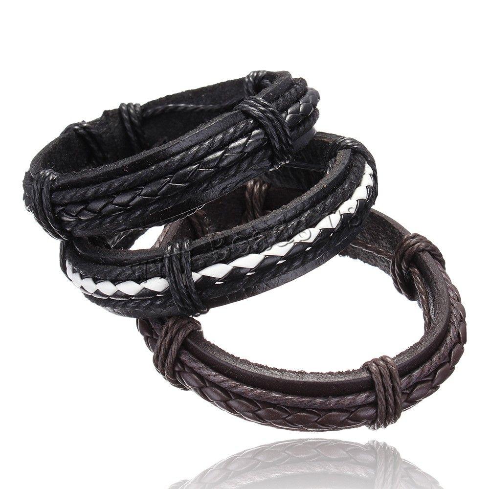 Wholesale new fashion fine jewelry men Genuine leather Bracelets ...