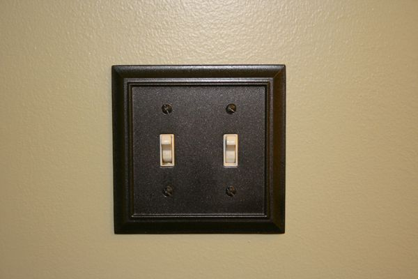 We Spraypainted Our Old Chrome Outlet Covers And Light Switch