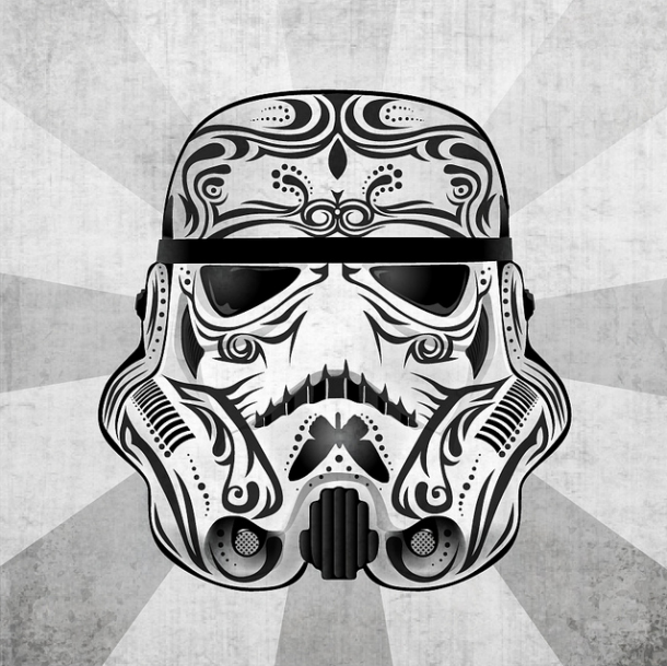 Star Wars Version Journee Des Morts Mexicaine Illustrations De