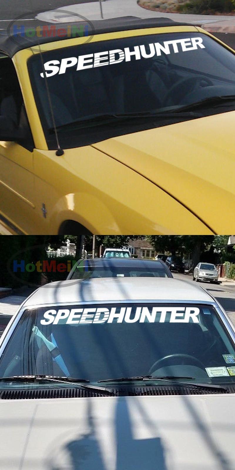 Car Styling Speedhunter Fornt Windshield Banners Decal Vinyl Car Stickers Jdm 40 Creative Sticker Black Sliver Vinyl Car Stickers Car Banner Jdm [ 1600 x 800 Pixel ]