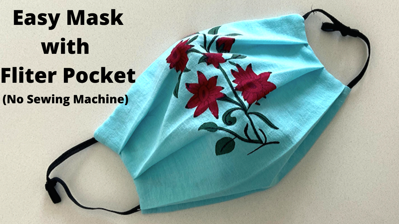 HOW TO MAKE A FABRIC FACE MASK AT HOME. step by step