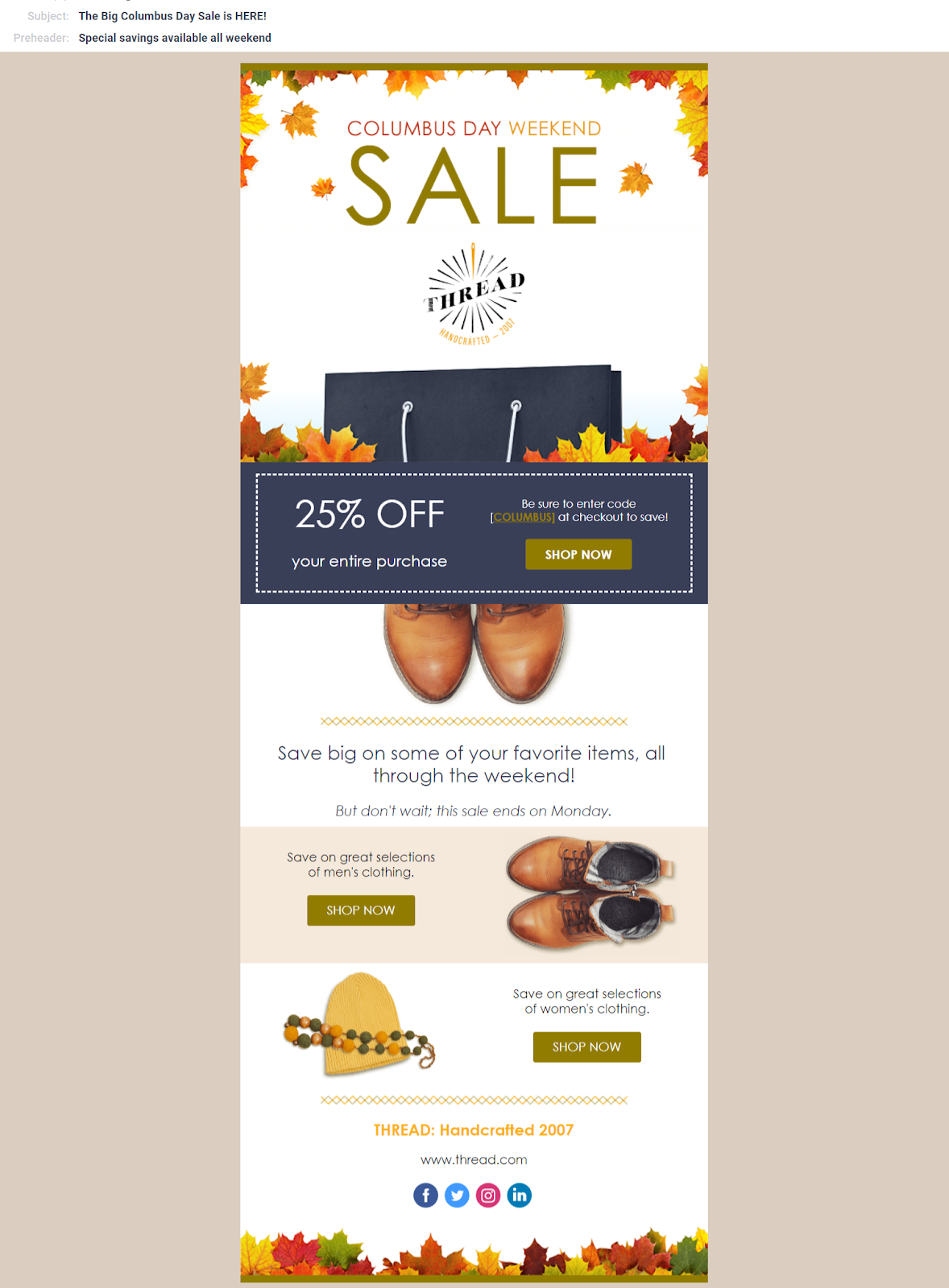 7 Tips To Maximize The Autumn Season With Holiday Email Templates Email Templates Holiday Emails Holiday Email Campaigns