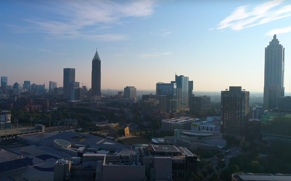 Capturing Exceptional City Views Of Atl With Aerial Video And Photography We Love A Good Drone Flight Rubyriotcrea City View Travel Marketing Aerial Video
