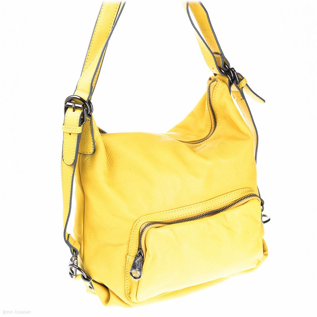 92d27a1b2b1f Leather Backpack (Yellow) - Kelly Lippman - Designer Handbags Australia -  Jenn Louise