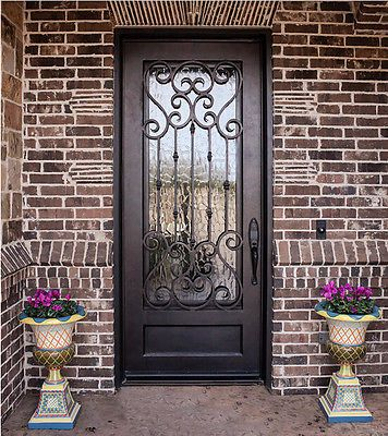 Single Wrought Iron Doors Irondoorsdepot 36 X 81 36 X 96 Iron Entry Doors Wrought Iron Front Door Wrought Iron Doors