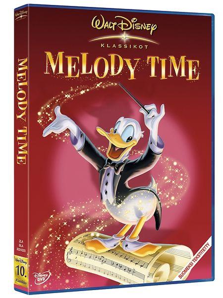 Melody Time -dvd (Säveltuokio). Lähde mukaan satumaiselle matkalle, jossa musiikkiteokset ja piirroshahmot kohtaavat toisensa seitsemässä ajattomassa tarinassa!