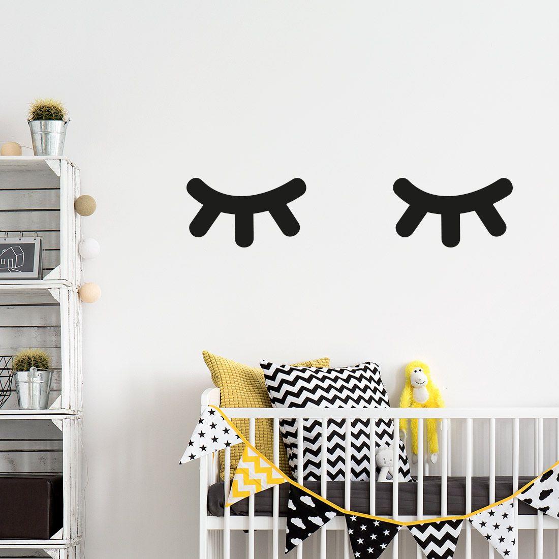 Slapende Ogen Muurstickers Kies Kleur Formaat Gratis Verzending Muurstickers Babykamer Decoratie Babykamer Stickers