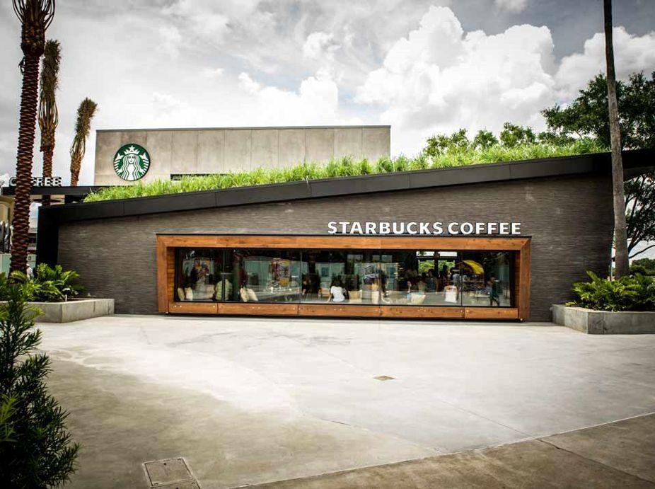 The starbucks green roof downtown disney walt disney for Starbucks in the world