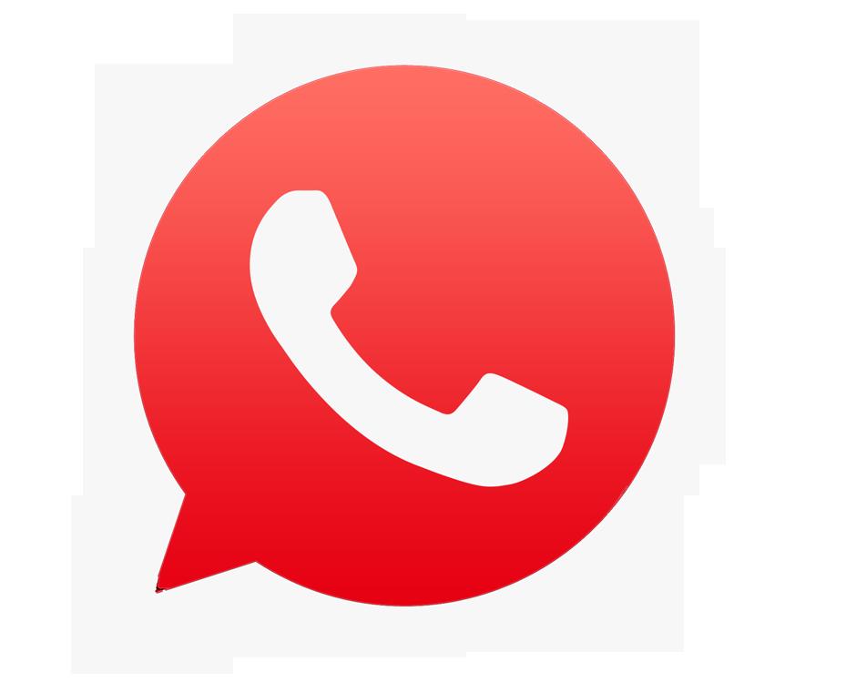 Resultado de imagen de icono whatsapp rojo