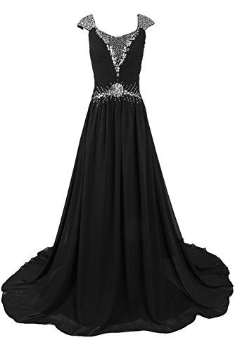 Sunvary Woman Sexy V-Neck Chiffon Evening Party Dresses Celebrity Dresses US Size 22W- Black Sunvary http://www.amazon.com/dp/B00LVT1T54/ref=cm_sw_r_pi_dp_9Lo-ub1054NBZ