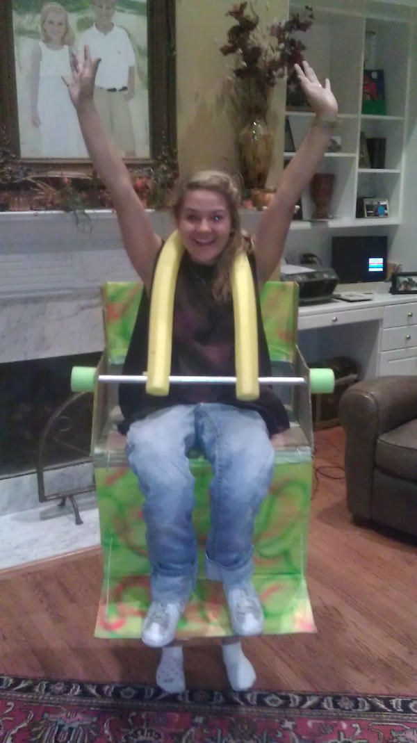 Amazing Halloween costume! Roller coaster seat! @Tori Murray this could be Bryan's next big costume!