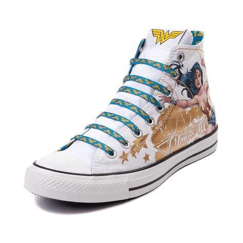 Converse All Star Hi Wonder Woman Roz 46 5 Z Usa Wonder Woman Shoes Women Shoes Womens Sneakers