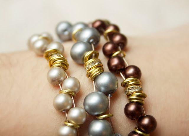 Quiet Lion Creations by Allison Beth Cooling: Metro Pearls Bracelets