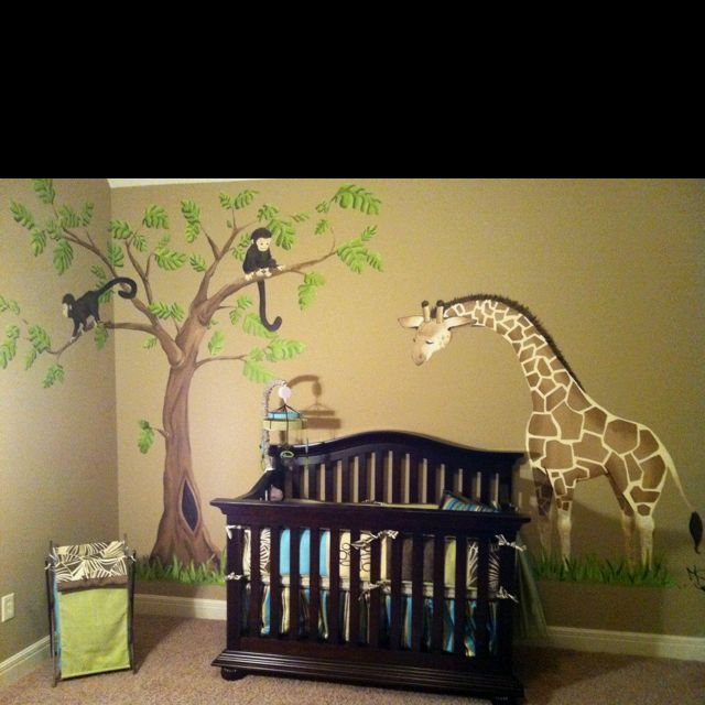 Love the jungle theme for a nursery Baby boy room