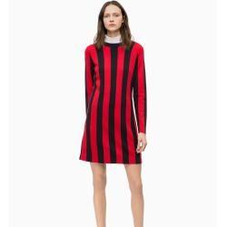 Photo of Outlet – Calvin Klein Gestricktes gestreiftes Wollkleid S – Sale Calvin KleinCalvin Klein
