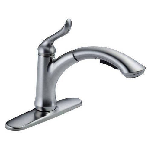 Delta Linden 4353 Dst Single Handle Pull Out Kitchen Faucet