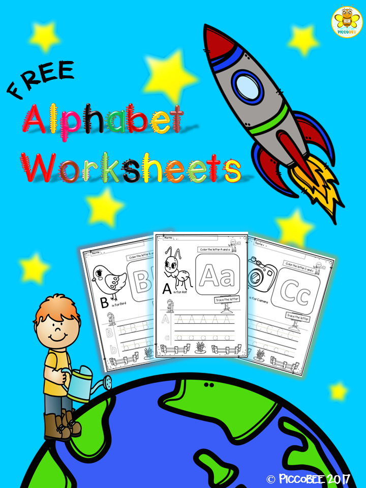 Alphabet Worksheets - Trace and Color   Pinterest