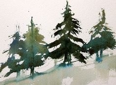 Easy Trees How To Paint Fir