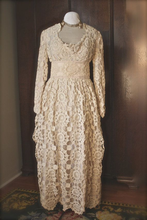 Crochet wedding dresses for sale